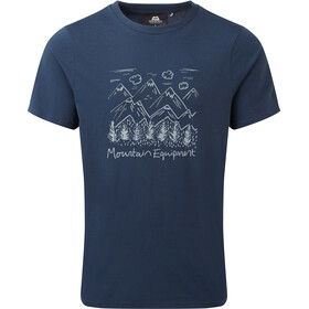 Mountain Equipment Vista T-Shirt Herren denim blue